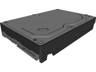 Hitachi 3.5 Inch SATA HDD CAD 3D Model