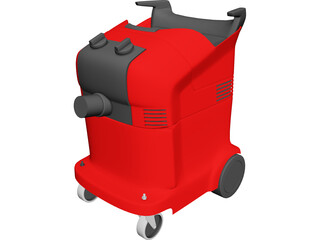 Industrial Vacuum Cleaner 3D Model