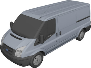 Ford Transit T350 (2010) 3D Model 3D Preview