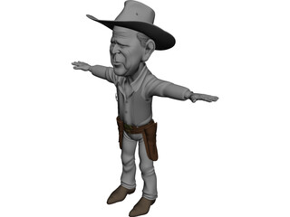Bush Cartoon 3D Model