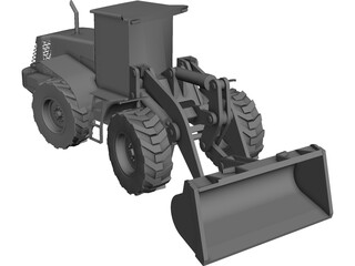 Hitachi Wheeled Loader CAD 3D Model