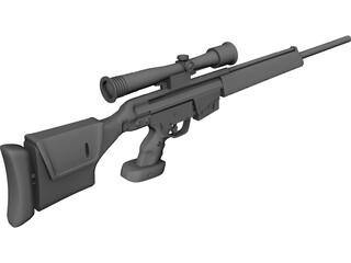 PSG-1 Sniper Rifle 3D Model