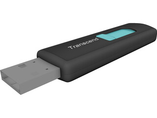 Transcend USB Pendrive 3D Model