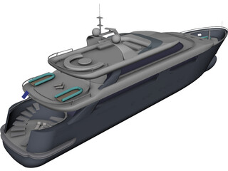 Superyacht 3D Model
