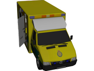 Mercedes London Ambulance 3D Model