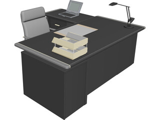 Full Desk Set 3D Model