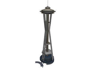 Seattle Space Needle 3D Model