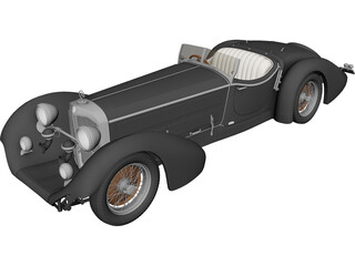 Mercedes-Benz SSK Roadster 3D Model