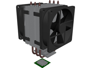 Cooler Master TX3 3D Model 3D Preview