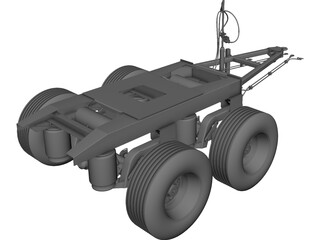 C-402 Converter Dolly CAD 3D Model