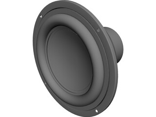 Tang Band W6-1139SG Speaker CAD 3D Model