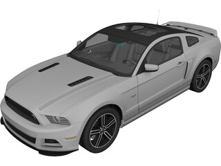 Ford Mustang GT (2013) 3D Model