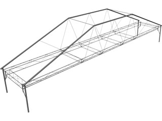Fink Truss Bridge CAD 3D Model