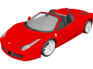 Ferarri 458 Spider (2012) 3D Model