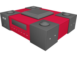 Audio CD Player 3D Model