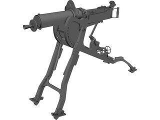 MG08 Machine Gun 3D Model