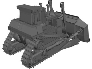 Caterpillar Bulldozer 3D Model