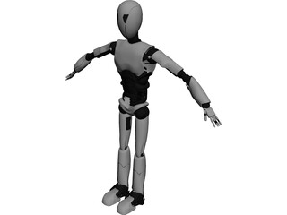 Electronic Robot 3D Model