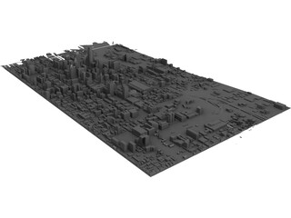 Philadelphia Map 3D Model