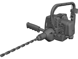 Hand Drill 3D Model 3D Preview