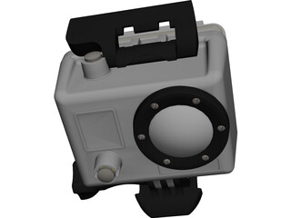 Gopro Hero2 CAD 3D Model