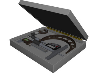 Measuring Instruments CAD 3D Model