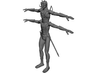 Tars Tarkas Thark of Barsoom 3D Model