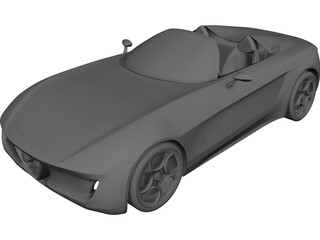 Alfa Romeo 2uettottanta Concept (2010) 3D Model 3D Preview