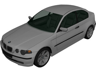BMW 3 Series Compact E46 (2004) 3D Model