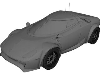 Lancia Stratos Fenomenon Concept (2005) 3D Model