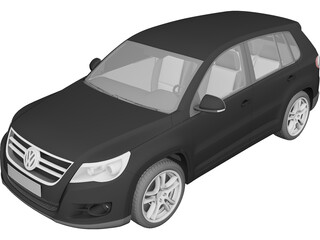 Volkswagen Tiguan (2011) 3D Model 3D Preview