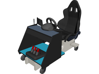 Racing Cockpit G27 3D Model 3D Preview