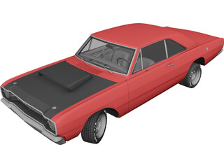 Dodge Dart HEMI Super Stock (1968) 3D Model