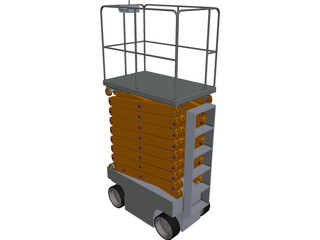 Scissor Lift CAD 3D Model