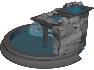 Fountain 3D Model 3D Preview