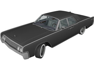 Lincoln Continental Sedan (1962) 3D Model 3D Preview