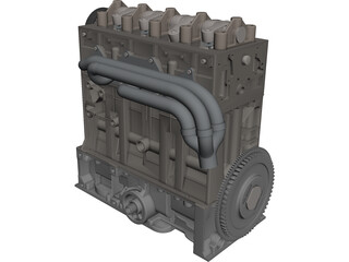 Citroen/Peugeot Engine CAD 3D Model