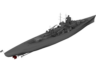 Gneisenau Cruiser 3D Model 3D Preview