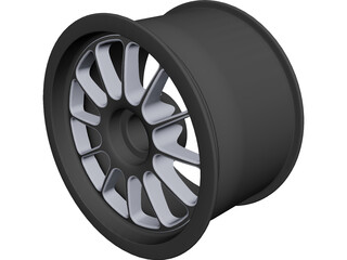 OZ Racing Wheel Centerlock 13x8 CAD 3D Model