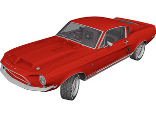 Ford Mustang Shelby GT-500KR (1968) 3D Model