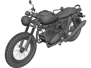 Yamaha 350 Custom 3D Model