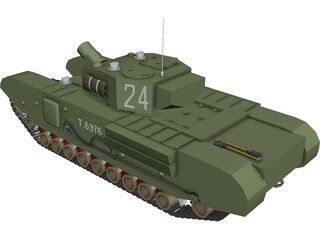 Churchill AVRE 3D Model