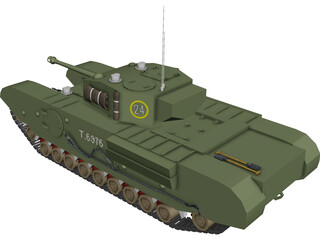 Churchill MK VII 3D Model