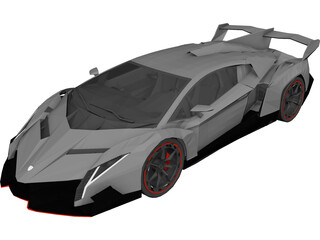 Lamborghini Veneno (2013) 3D Model 3D Preview