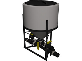 Feeder Tank with Control Valves 3D Model