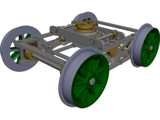 Bogie L&N 10 Wheel 3D Model 3D Preview