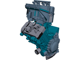 Triumph 675 Engine CAD 3D Model