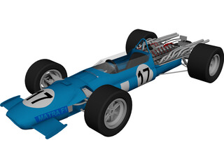 Matra F1 Racing Car (1967) 3D Model