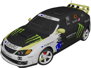 Subaru Impreza WRX STi Ken Block 3D Model 3D Preview