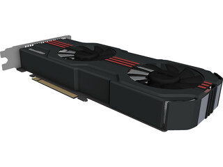 Nvidia GeForce GTX 560Ti CAD 3D Model